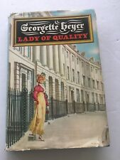 Vintage Georgette Heyer Lady of Quality hardback book with dust jacket 1972