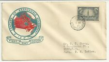 CANADA 1948 Century of Responsible Government, FDC Air Mail to Dutch East Indies