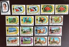 Dominica 1969-72 Definitives 17 Values Mostly FU