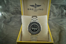 Vintage 1977 BREITLING Navitimer 9416 LCD digital watch w/Boxes