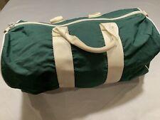 Vintage LL Bean Duffle Bag Green & White