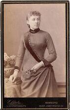 E. Bieber CDV Photo sottili dame-Amburgo 1880er