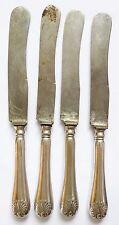 5 grands couteaux en argent et acier 19e siècle JOHN BENSON & Co