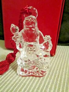 Marquis by Waterford $30 Third in Series Crystal Santa Christmas Ornament NEW