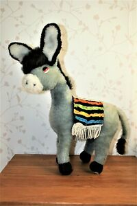 """VINTAGE MERRYTHOUGHT     """" DONKEY """"  WITH LABEL STILL ATTACHED."""