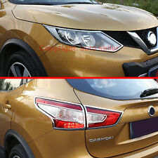ABS Chrome HeadLight And Tail Light Lamp Cover Trim For Nissan Qashqai 2014-2016