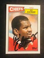 Kansas City Chiefs IRV EATMAN auto autographed signed 1987 TOPPS card UCLA BRUIN