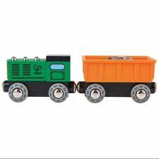 Hape E3718 Diesel Freight Train magnétique carriages Inc 2pcs enfants 3 ans +