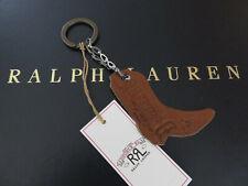 RALPH LAUREN Double RL RRL Key Chain FOB Suede Cowboy Boot