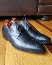 Bruno Magli RISKOR Black Leather Oxford Dress Shoe Size 10.5M Hand Made In Italy