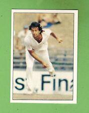 1985 SCANLENS CRICKET STICKER #30  IMRAN KHAN BOWLING FOR NSW