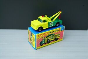 Matchbox Lesney No 13 Dodge Wreck Truck NM plus Original Box