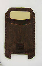 Handmade iPhone 4, 5, 5C Pouch Case Genuine Rustic Real Leather Brown RRP $55
