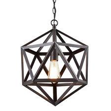 Metal Geometric Pendant Light Hexagon Hanging Light Fixture Chain Hung Lighting
