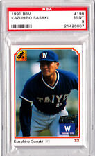 Kazuhiro Sasaki 1991 BBM PSA 9 #196 Japanese Card 2000 ROY Seattle Mariners