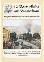 12 Dampfloks am Wasserhaus Schmalspurbahn Reichsbahn Eisenbahn Preßnitztalbahn