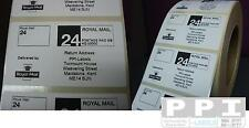 5000 ROYAL MAIL 24 PPI Labels & Return Address ON ROLL STD-24-R4 (70x40)
