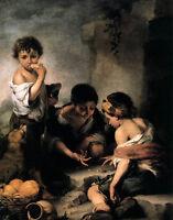 "Beautiful Oil painting Bartolome Esteban Murillo - Young Boys Playing Dice 36"""