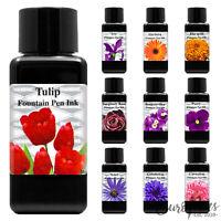 Diamine Flower Collection Fountain Pen Plastic Bottled Ink 30ml - Choose Colour