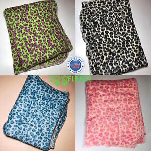 "ZooFleece Leopard Tiger King Exotic Animal Print 42X60"" Blanket Throw Christmas"