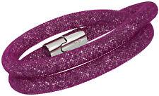 Swarovski Stardust Purple Nylon Tube Small Double Bracelet for Women 5186425