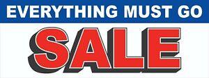 Everything MUST Go Banner, Mega Sale Banner, Sale Banner, Mega Clearance Banner