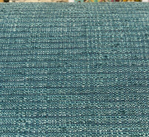 Manhattan Turquoise Teal Chenille Upholstery Fabric By The Yard