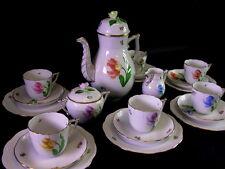Herend Kaffeeservice für 6 Personen  - Blumendekor - signiert