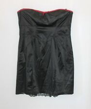 city chic Designer Black Red Fine Bow Strapless Lace Hem Dress Size L BNWT #Ti33