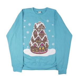 Scissorsaurus Christmas Gingerbread House Sweatshirt Jumper