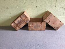 6 vintage en bois Fromage Crate (Boîte Shabby Chic Rangement Cool rustique charmante)