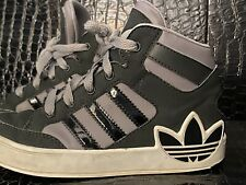 Rare Adidas Trefoil High Top Hip Hop Run DMC Boys Kids Basketball Sneakers 13