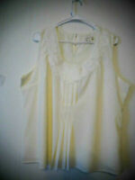 Coldwater Creek Womens Size XL Sleeveless Shirt Top Embroidered Cream Sequin EUC