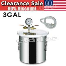 3 Gallon Stainless Steel Vacuum Chamber Kit Degassing Urethanes Silicone Epoxies