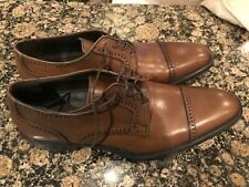 Bruno Magli Cap Toe Oxford Lansdale British Tan Brown Men's Size 11.5