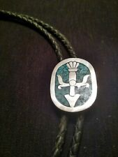 sterling with turquose inlay mens western Bolo tie