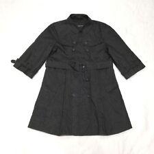 Pringle Ladies Black Light Trench Coat Floral Pattern 3/4 Sleeves Size 10 UK