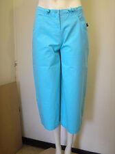 Lovely turquoise CROPPED PANTALONS CAPRI pantalon par battant DODO taille S-BNWT!!