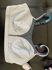 New Sports Bra Champion Spot Comfort WireFree Heather-Grey 1602 MSRP-$48.00