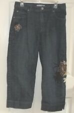 Womens CHICOS~Denim CAPRIS~size 1.5~NEW~Dungarees Stretch Cropped Jeans CROP $89