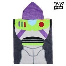 Buzz Toy Story Kids Hooded Poncho Disney Pixar Children Bath Beach Pool Towel