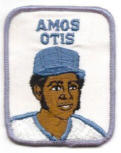 AMOS OTIS 1978-79 Vintage Penn Emblem Baseball Player Patch-Kansas City Royals