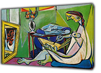 PABLO PICASSO LA MUSE OIL PAINT RE PRINT ON FRAMED CANVAS WALL ART DECORATION