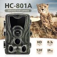 HC-801A Hunting Trail Camera 16MP 1080P HD Video Night Vision IP65 IR Cams Trap