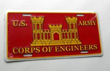Army Corps of Engineers License Plate 6 x 12 inches Embossed Made in the USA