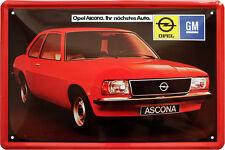 Opel Ascona Kult Car Auto Nostalgie 20x30 cm Blechschild 652