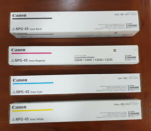 Genuine Canon Toner Cartridges TG45 NPG-45 Complete Set