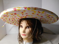 Vtg. 1950's NOS Unique  PUFF Inflatable Sun Rain Hat Party Beach Gardening WOW!