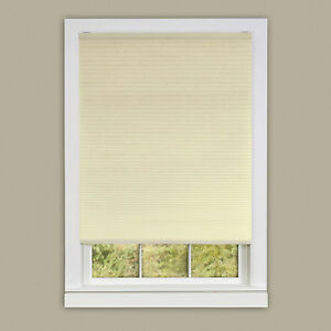"Alabaster Cordless Cellular Honeycomb Pleated Shades 3/8"" Light Filtering Shade"