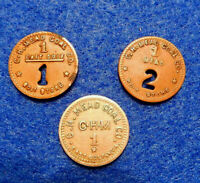 West Virginia Coal Scrip Lot: 3 different $.01 tokens, C.H. Mead Coal Co,Raleigh